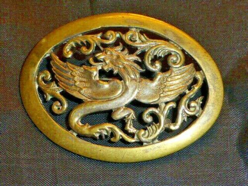 Superb Antique Victorian Griffin or Dragon Brooch