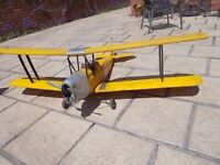 rc scale biplane with petrol engine and 2.4 ghz radio