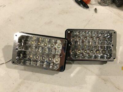 Two Whelen 400 Series Freedom Lightbar Super Led Lighthead Blue Amber