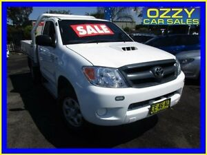 2007 Toyota Hilux KUN26R 07 Upgrade SR (4x4) White 5 Speed Manual Cab Chassis Minto Campbelltown Area Preview