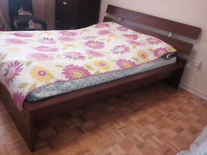 Queen bed+mattress