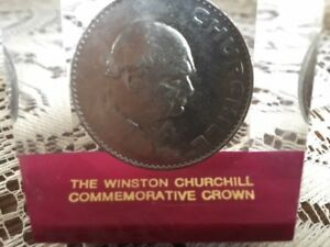 COMMEMORATIVE BRITISH 1965 CROWN PAPER WEIGHT