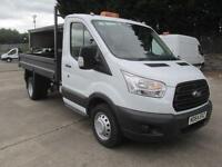 Ford Transit 350 L2 2.2 Tdci 125Ps Tipper DIESEL MANUAL WHITE (2015)