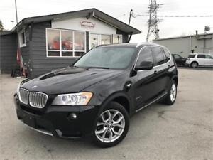 2013 BMW X3 28i|AWD|BLACK ON RED|NAV|SENSORS|SUNROOF|LEATHER