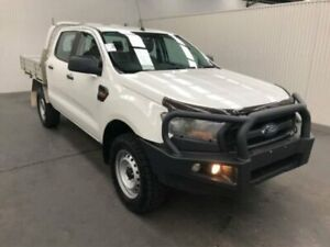 2016 Ford Ranger PX MKII XL DOUBLE CAB PLUS Cool White Sports Automatic Dual Cab Chassis Moonah Glenorchy Area Preview