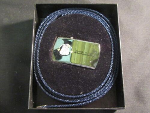 Richard Collins 1996 Eagle Recognition Diner Zippo Web Belt and Buckle        H1