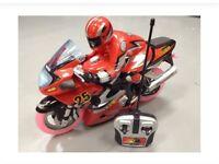 Kids remote control motor bikes
