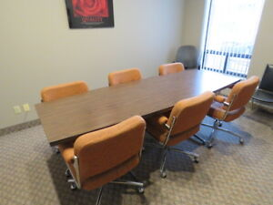 Conference Room Table & Chairs