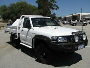 2009 Nissan Patrol GU 6 MY08 DX White 5 Speed Manual Cab Chassis Maddington Gosnells Area Preview