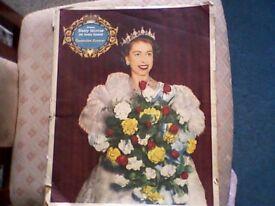 CORONATION SOUVENIR DAILY MIRROR NEWSPAPER ORIGINAL GENUINE 1953