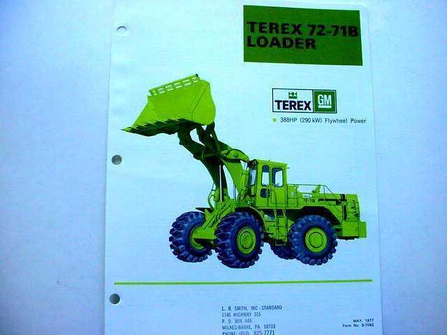Terex 72-61 & 72-71B Wheel Loader Literature