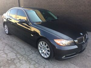 2006 BMW 3 Series 330i EXECUTIVE BLACK ON BROWN LEATHER $3,999.0