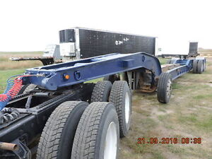 BRENTWOOD RAIL LOWBED WITH S/A JEEP AND BOOSTER Moose Jaw Regina Area image 1