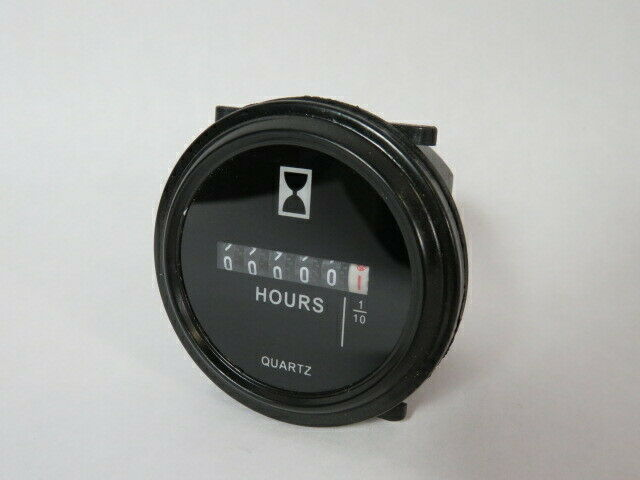 Quartz SH-1 Sealed Hour Meter Gauge 6-80VAC/DC  USED