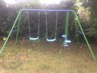 Double swing and seesaw set, good condition, hardly used