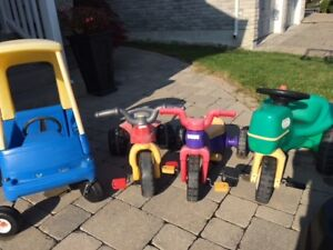 Little Kids Ride On - Trikes, Tractor, Cozy Coupe