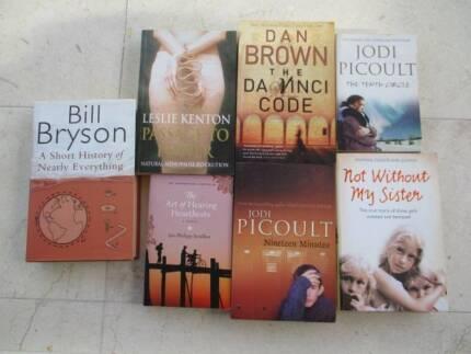 BULK BOOKS JODI PICOULT ,DAN BROWN,BILL BRYSON LESLIE KENTON Bronte Eastern Suburbs Preview