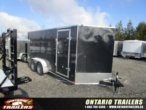 "ONTARIO TRAILERS TANDEM AXLE 7' X 18'+30"" V-NOSE MUSTANG SE"