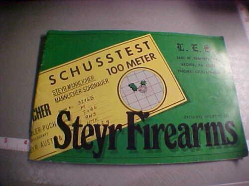 original Steyr-Mannlicher Sporting Rifles catalog not a reproduction