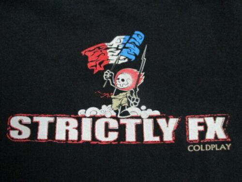 "2008 COLDPLAY ""Strictly FX"" Crew VIVA LA VIDA Concert Tour (MED) T-Shirt MARTIN"