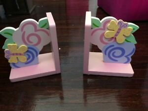Girl's Butterfly & Flower Book Ends