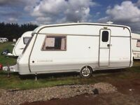 Swift Corniche 2 berth '95 with full awning, stabiliser & contents. £1000. Ideal first caravan.
