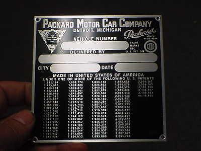 PACKARD 1940s vintage Data Plate Emblem Plackard for sale  Veradale