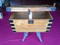 Polished pine storage box