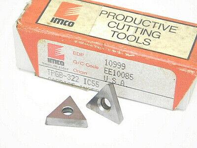 New Surplus 10pcs. Imco Tpgb 322 Grade Ic55 Carbide Inserts