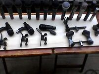 17 mics..drum,and vocal +leads+accessories GWO