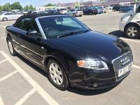 Audi A4 Convertible 2007 in Stunning Black, Lady Owner 77K Full Service History