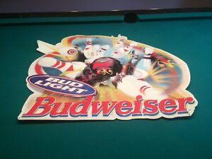 Budweiser/Bud light bowling tin sign