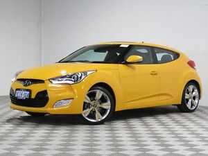 2013 Hyundai Veloster FS MY13 + Yellow 6 Speed Manual Coupe East Rockingham Rockingham Area Preview