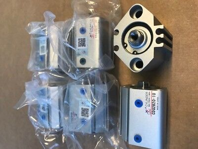 New Compact Pneumatic Cylinder Cdq2b20-10 Lot 0f 6