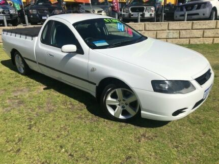 2007 Ford Falcon BF Mk II XL Ute Super Cab White 4 Speed Automatic Utility Wangara Wanneroo Area Preview