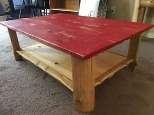 Unique Rustic Real Wood Coffee Table (Top Could Be Painted)