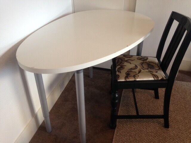 ikea desk table adjustable height fijiji egg shaped in aberdeen gumtree. Black Bedroom Furniture Sets. Home Design Ideas