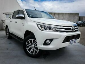 2017 Toyota Hilux GUN126R SR5 Double Cab White 6 Speed Sports Automatic Utility Canning Vale Canning Area Preview