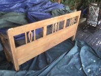 Garden picnic bench with cushion and draw compartments
