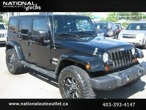 2011 Jeep Wrangler Unlimited Sahara Level Kit, Upgraded Tires