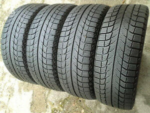 SET OF 4 WINTER TIRES 225 55 R 17 MICHELIN X ICE  70%