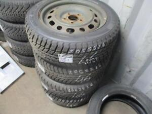 205/55 R16 MAZDA 3 WINTER TIRES AND RIMS PACKAGE (SET OF 4) - USED WEATHERMAXX ARTIC WINTER APPROX. 75% TREAD