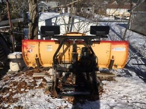 8ft Fisher Snow Plow with Minute Mount For Sale