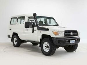 2007 Toyota Landcruiser VDJ78R GXL (4x4) White 5 Speed Manual TroopCarrier