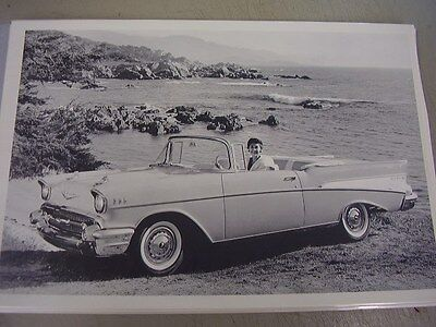 1957 CHEVROLET BEL AIR  CONVERTIBLE   12 X 18 LARGE PICTURE   PHOTO