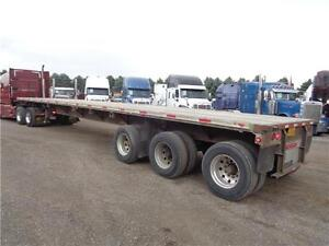 2000 FONTAINE 48 TRIDEM COMBO FLAT BED TRAILER Kitchener / Waterloo Kitchener Area image 1