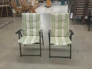 Two Padded Folding chairs