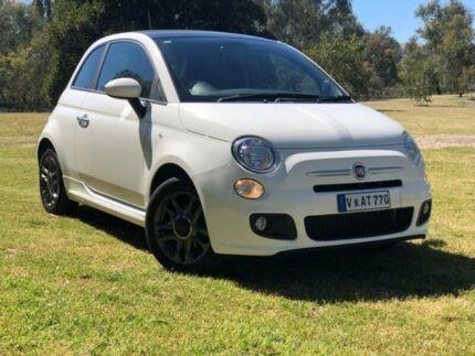 2015 Fiat 500 Series 3 S Dualogic White 5 Speed Sports Automatic Single Clutch Hatchback Wodonga Wodonga Area Preview
