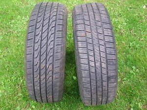2-195/65R15 ALL SEASON TIRES, GREAT CONDITION WITH 85-90% TREAD