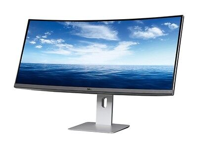 "شاشة ليد جديد Dell U3415W Black 34"" Curved LED Backlight Monitor 5ms GTG HDMI  IPS Built-in Sp"
